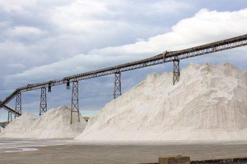 Huge piles of salt